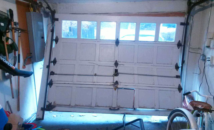 Broken Garage door repairs
